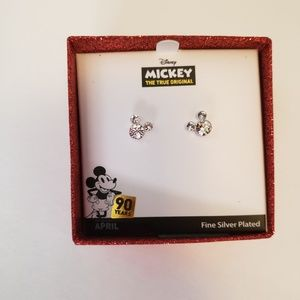 Disney Mickey mouse birthstone earrings